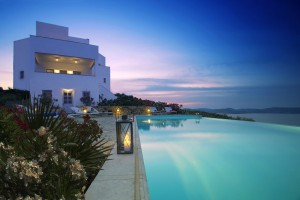 4. VILLA POOL AT DUSK WESTERN VIEW