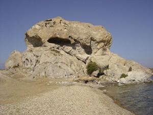 Petra Beach rock