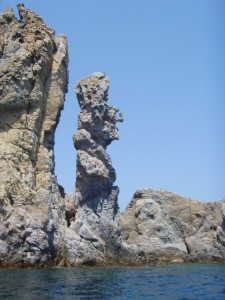 A sculpture in rock